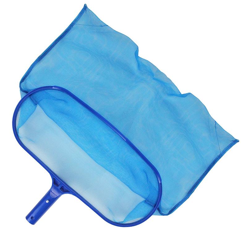 recogehojas de fondo color azul para piscinas